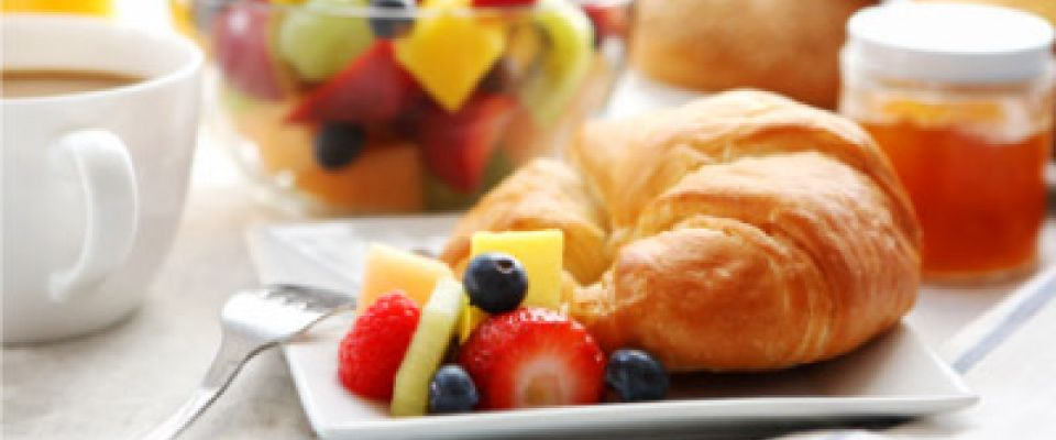 fruit and croissant